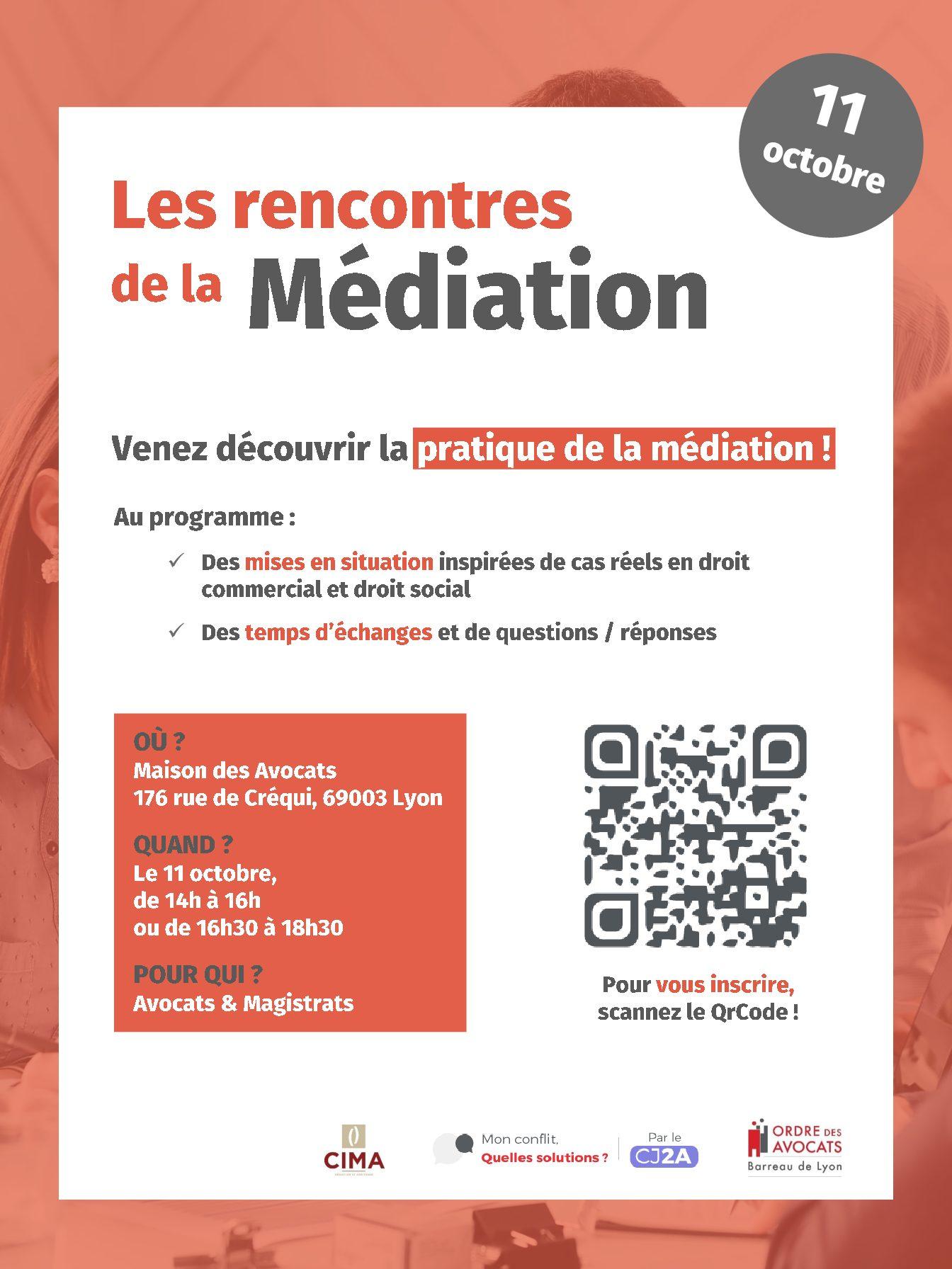 Les rencontres de la médiation : 11.10.2021